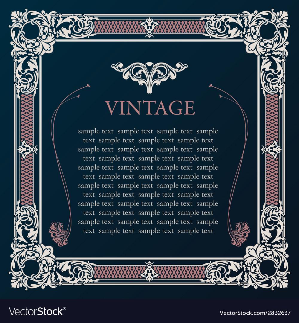 Label frame vintage tag decor medieval vector | Price: 1 Credit (USD $1)