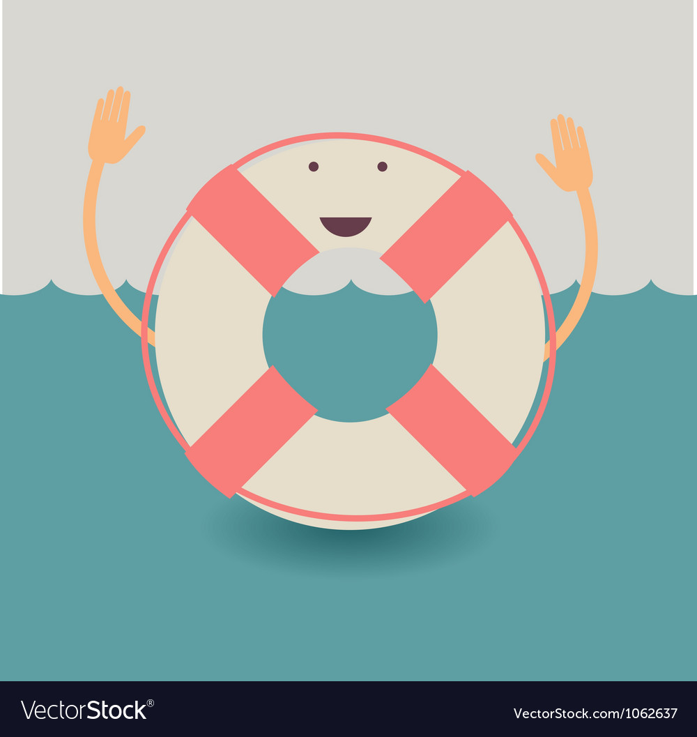 Life belt poster vector | Price: 1 Credit (USD $1)