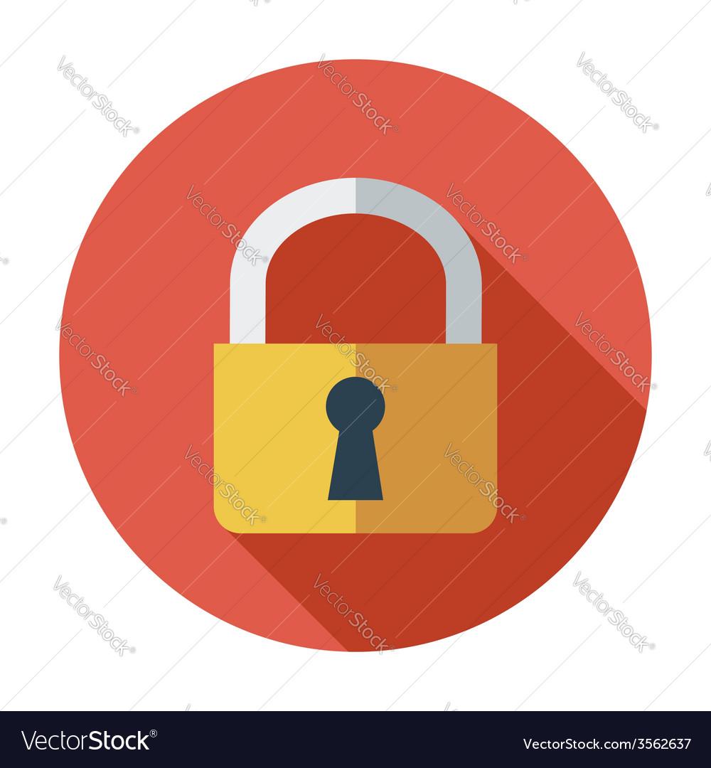 Lock single icon vector | Price: 1 Credit (USD $1)