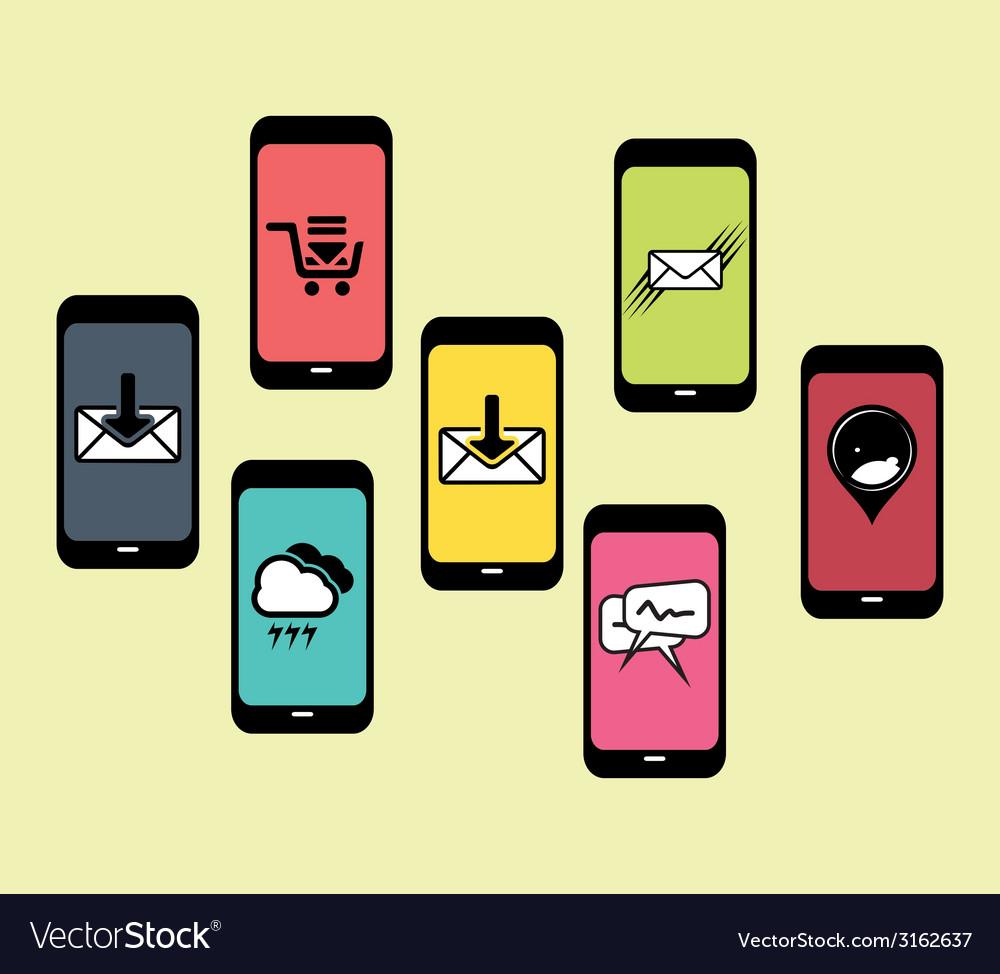 Mobilni social media1 resize vector | Price: 1 Credit (USD $1)