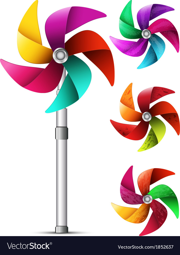 Pinwheel toy vector | Price: 1 Credit (USD $1)