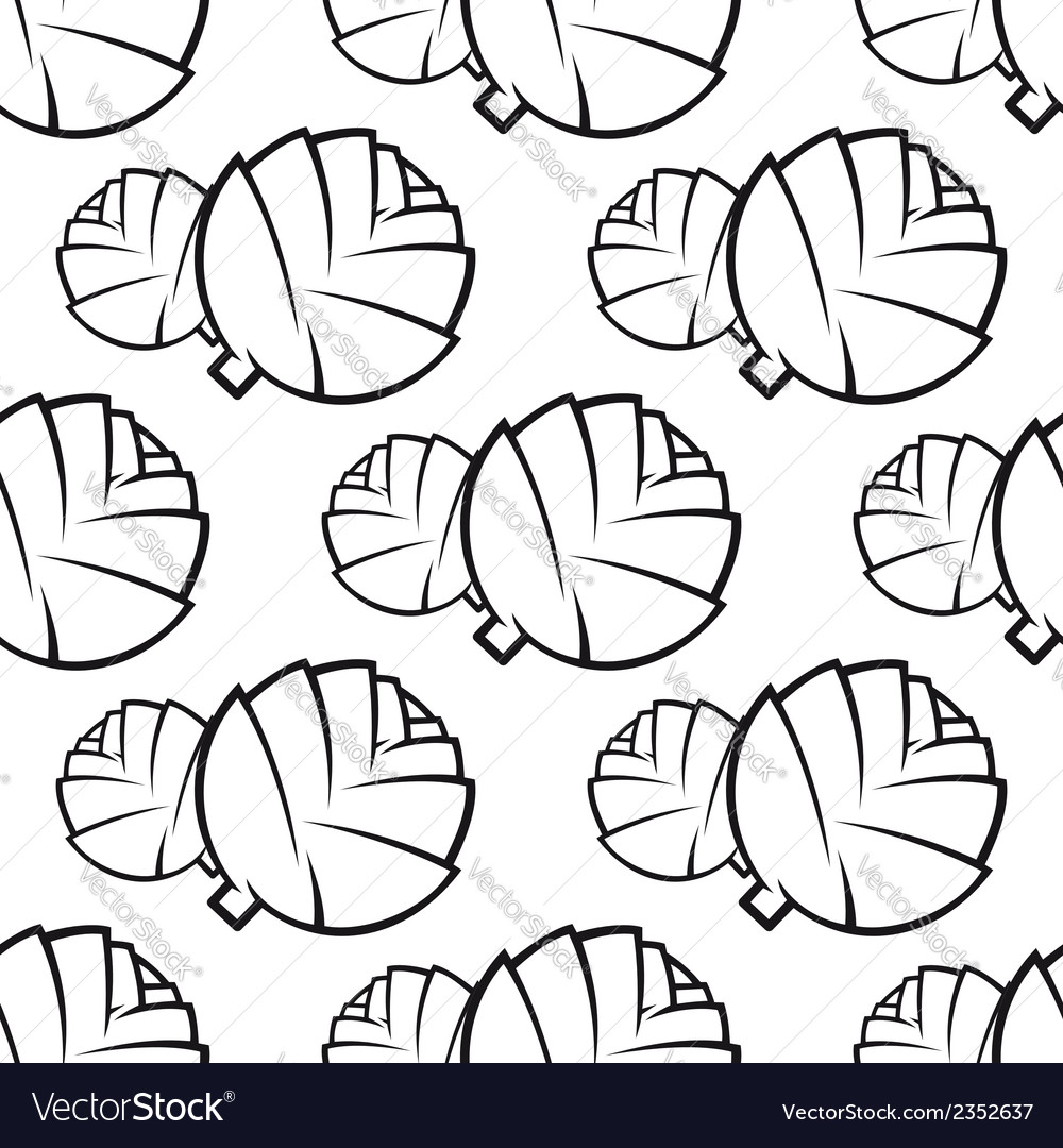 Seamless pattern of cabbages vector | Price: 1 Credit (USD $1)