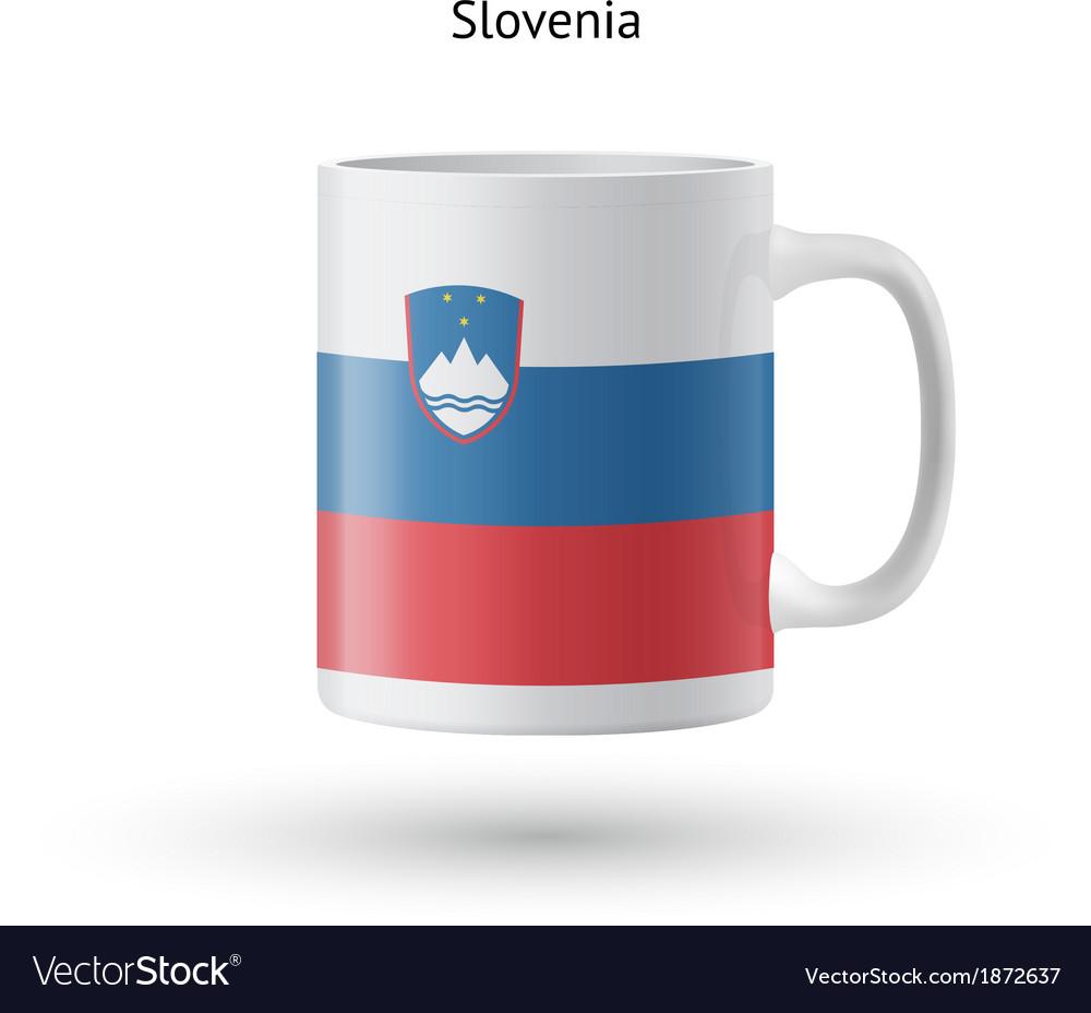 Slovenia flag souvenir mug on white background vector | Price: 1 Credit (USD $1)