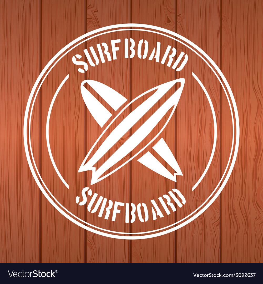 Surf design vector | Price: 1 Credit (USD $1)
