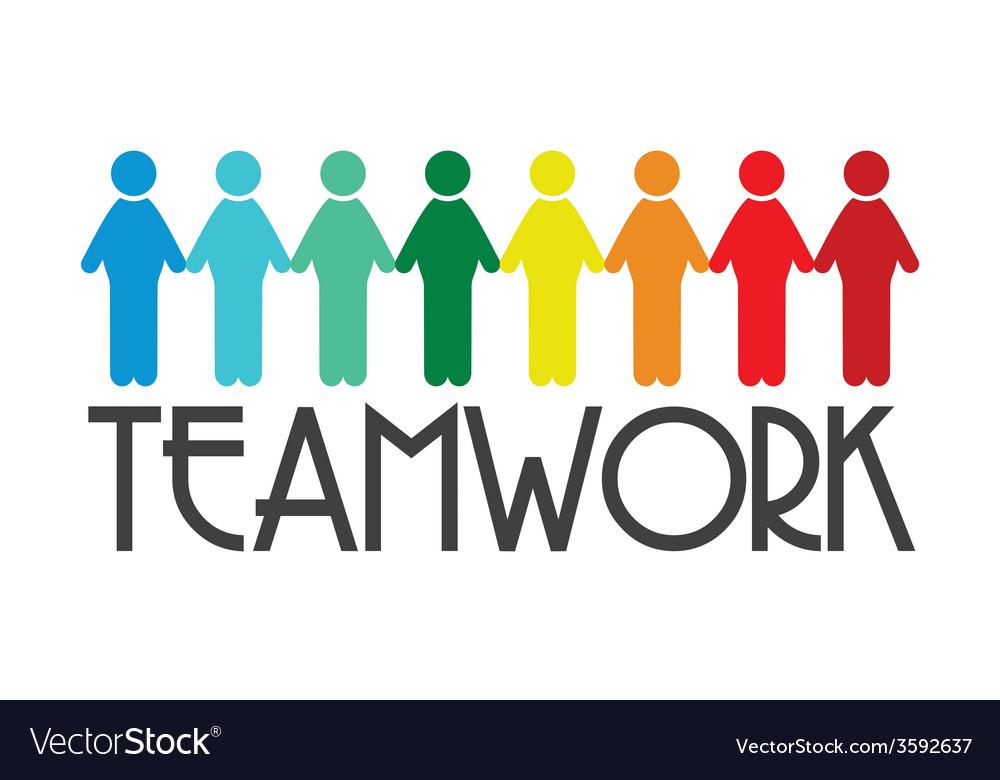 Team work2 vector | Price: 1 Credit (USD $1)