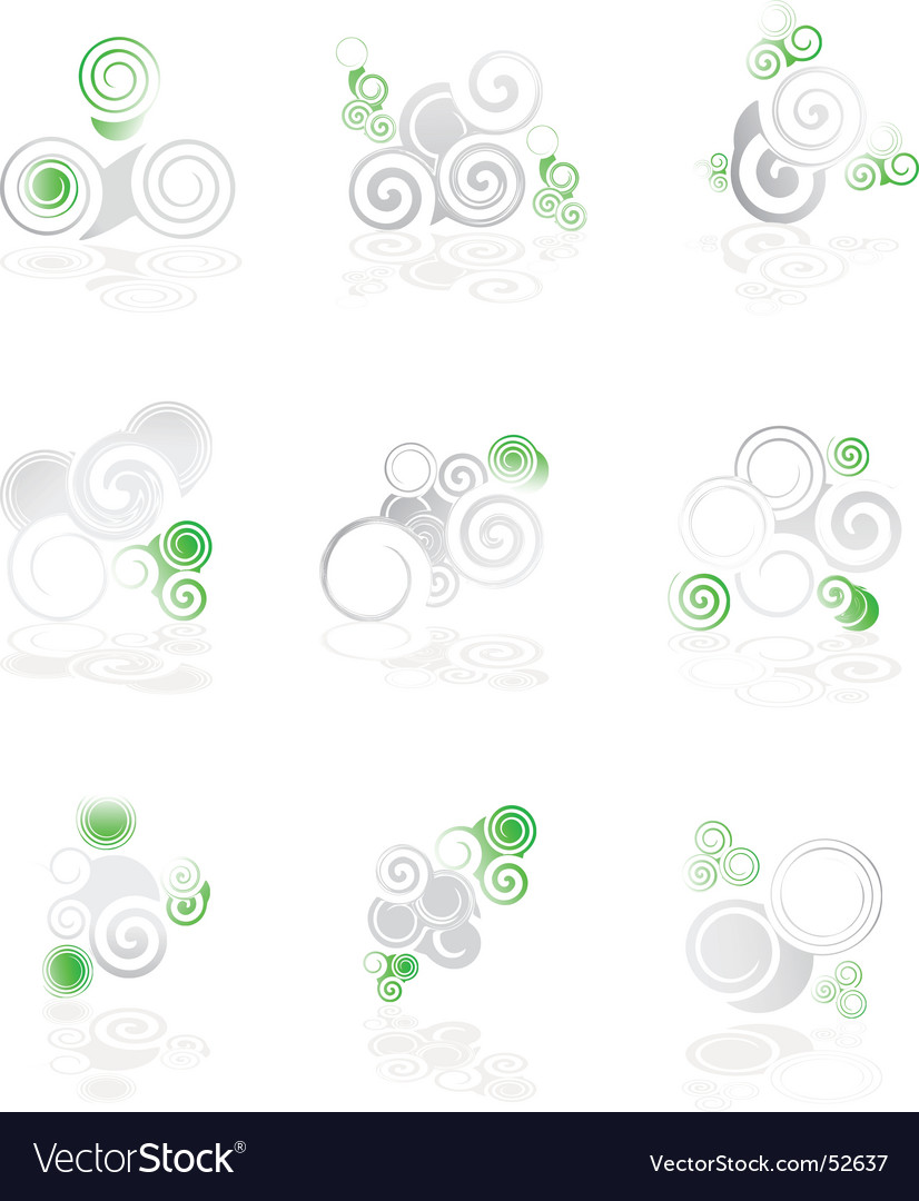 Twirl icons vector