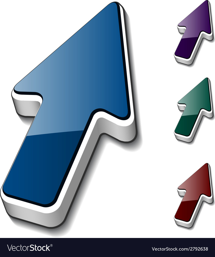 3d arrow cursors vector | Price: 1 Credit (USD $1)