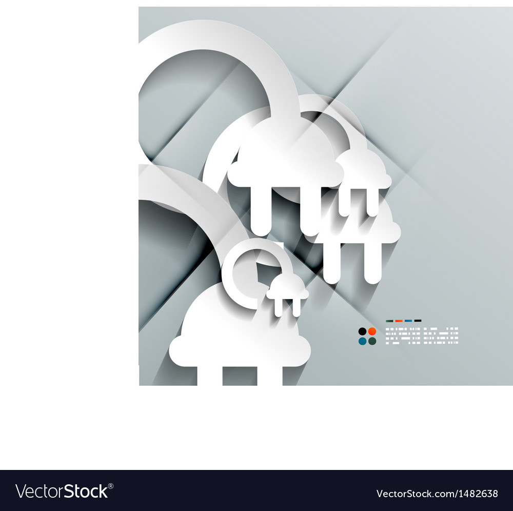 3d paper plug modern design vector | Price: 1 Credit (USD $1)