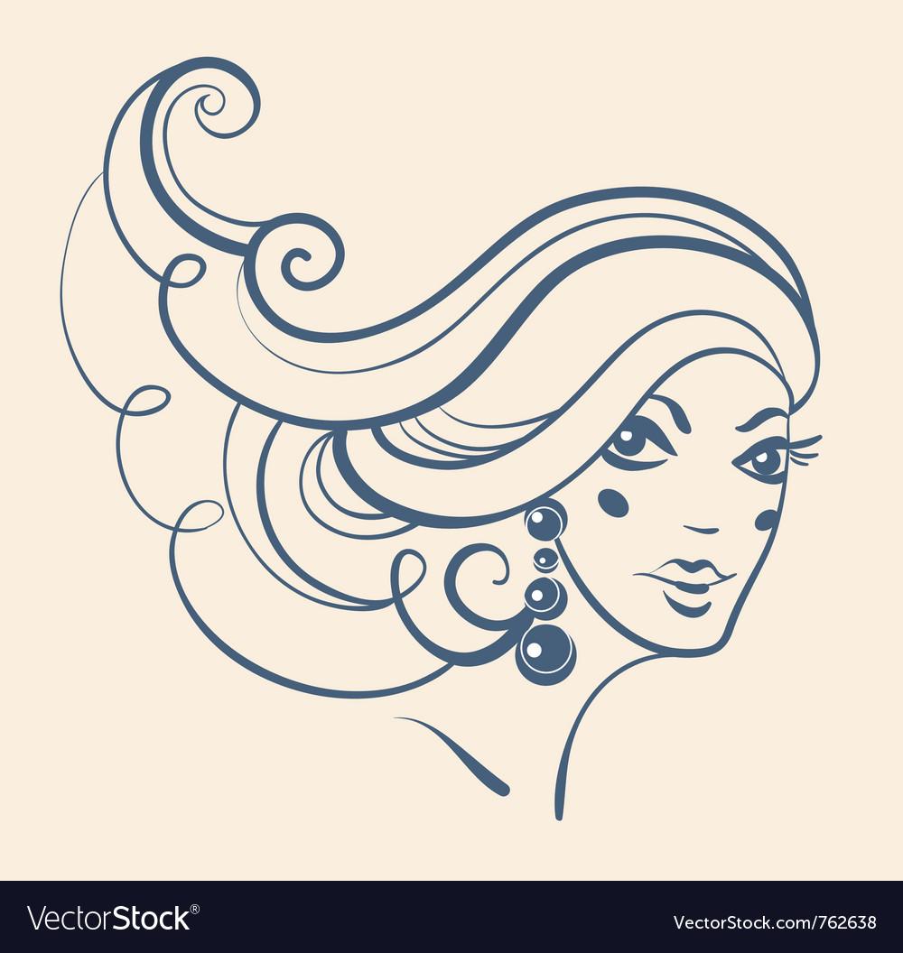 Beautiful girl vector   Price: 1 Credit (USD $1)