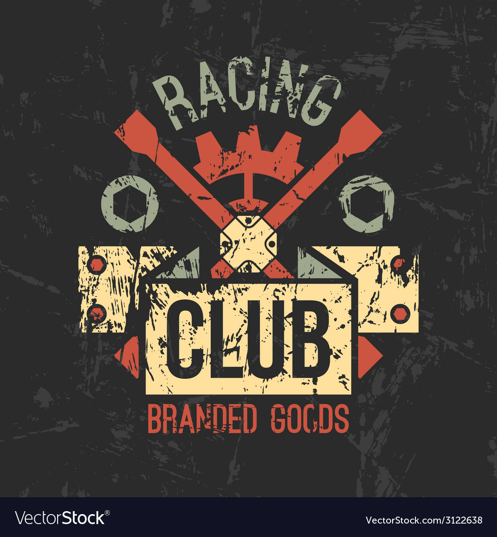 Car racing club emblem vector | Price: 1 Credit (USD $1)