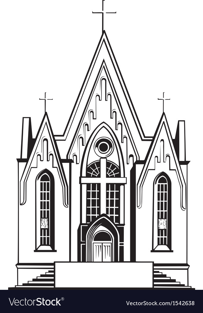 Catholic church vector | Price: 1 Credit (USD $1)