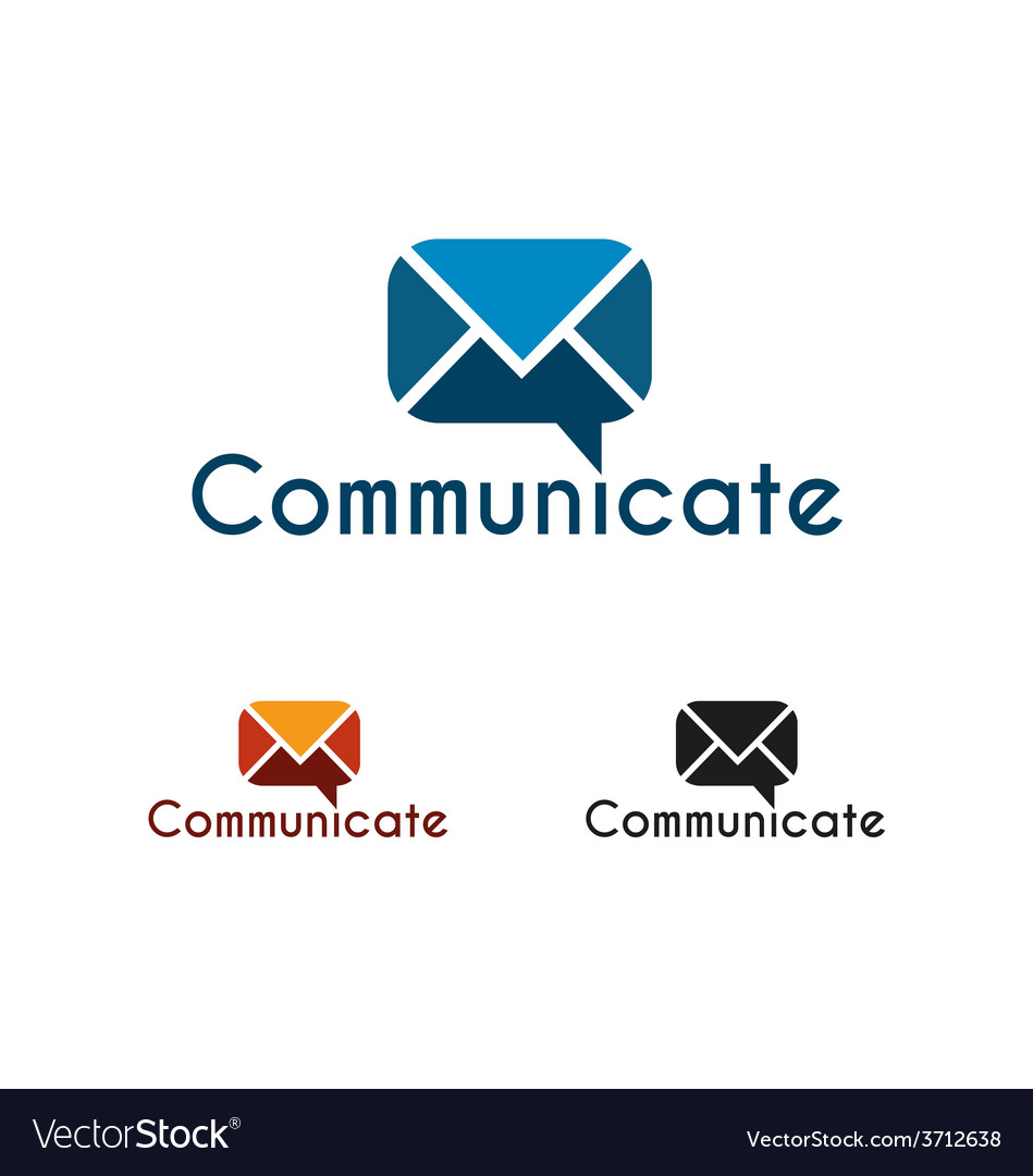 Communicate logo template vector | Price: 1 Credit (USD $1)