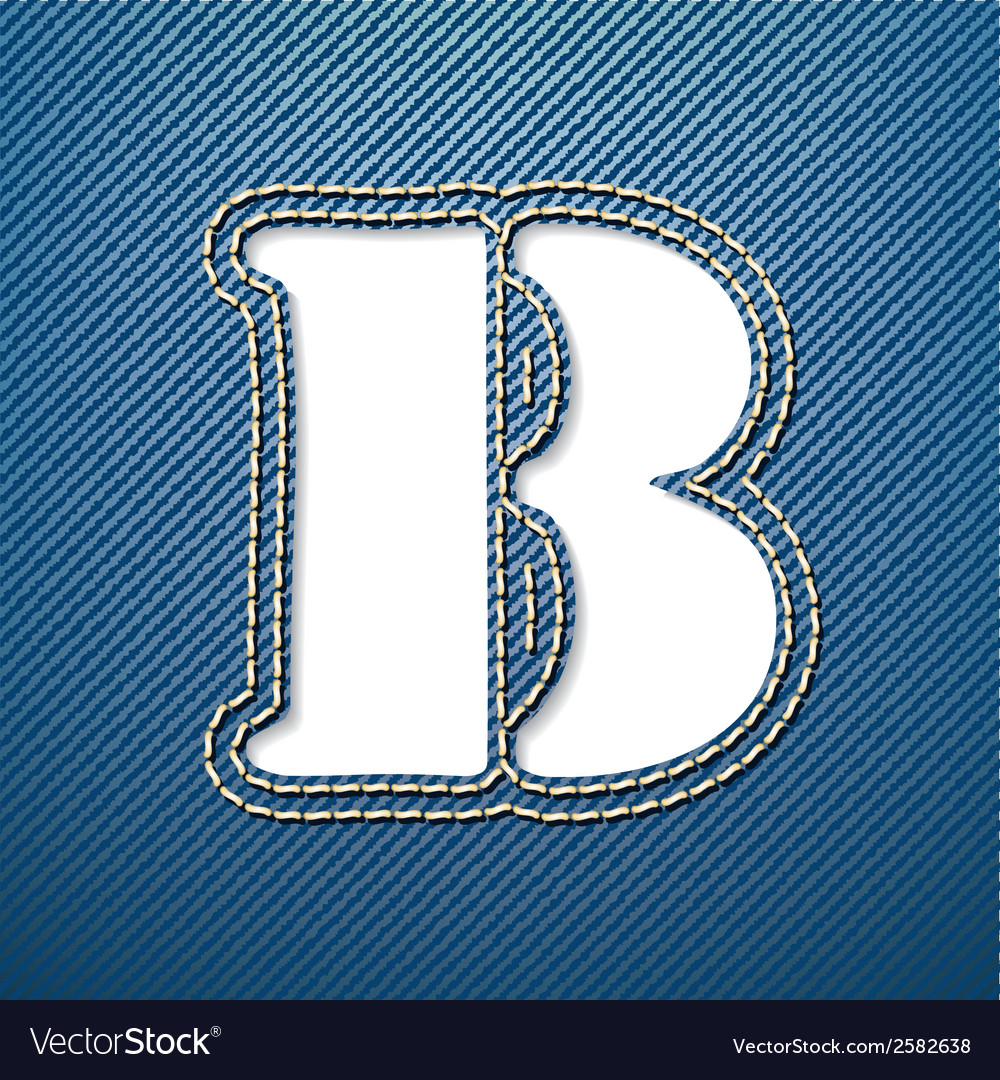 Denim jeans letter b vector | Price: 1 Credit (USD $1)