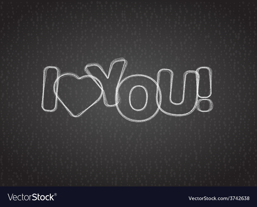I love you text on dark textured background vector | Price: 1 Credit (USD $1)