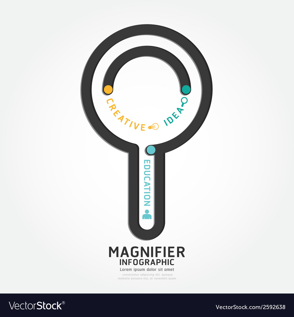 Infographics magnifier design diagram line vector | Price: 1 Credit (USD $1)