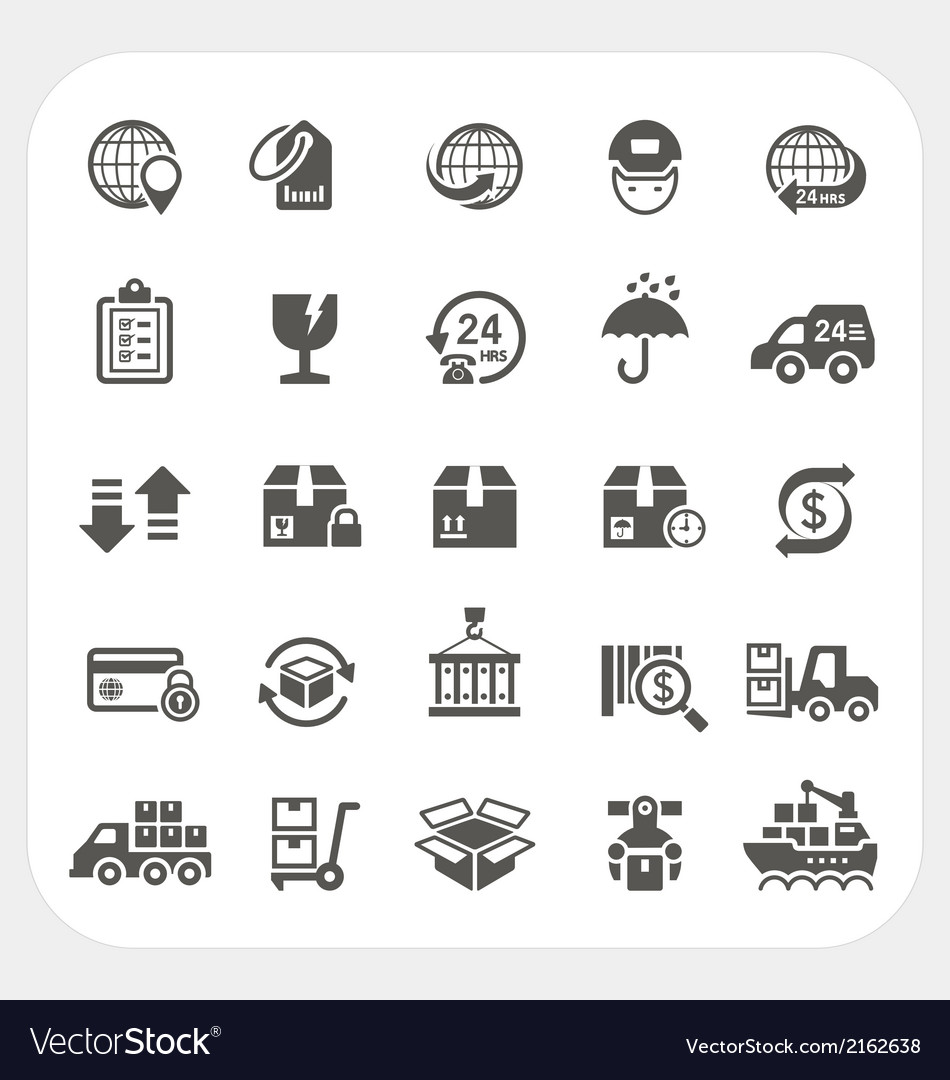 Logistics and shipping icons set vector | Price: 1 Credit (USD $1)