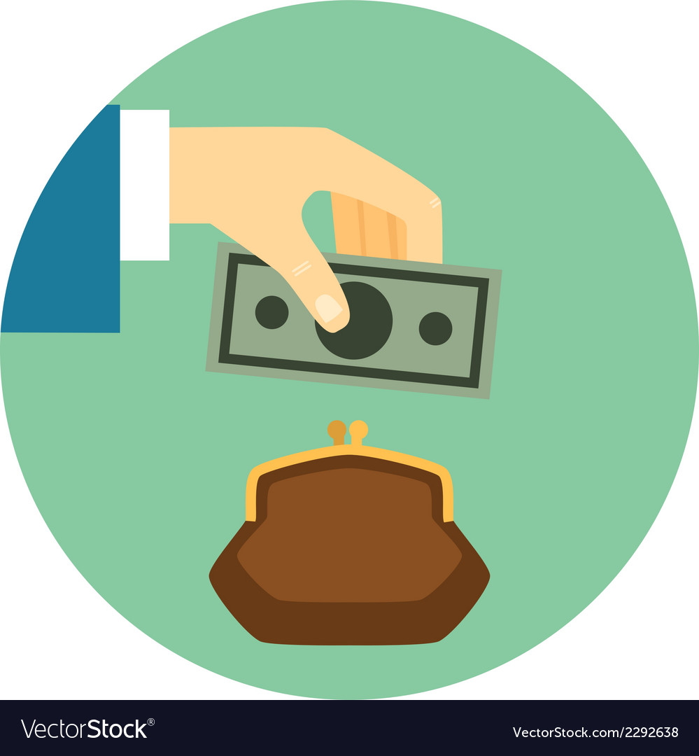 Save money icon vector   Price: 1 Credit (USD $1)
