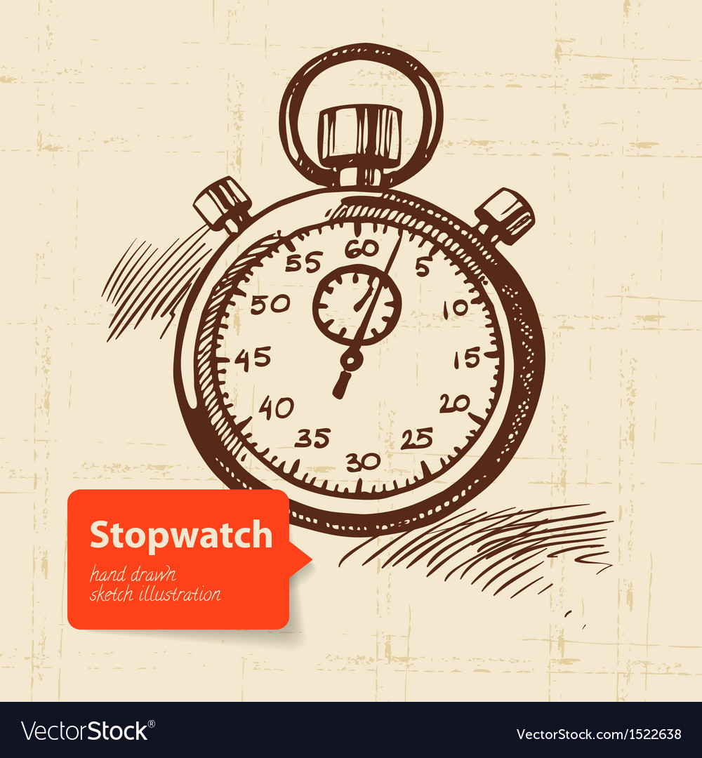 Vintage stopwatch vector | Price: 1 Credit (USD $1)