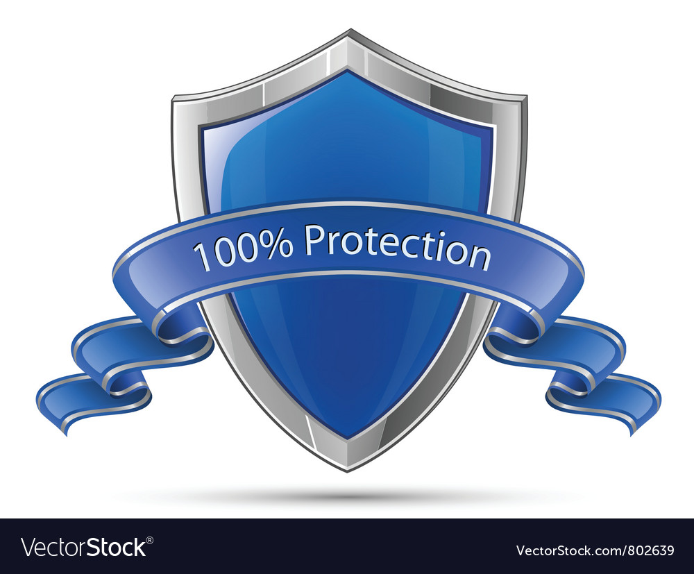 100 percent protection shield vector | Price: 1 Credit (USD $1)