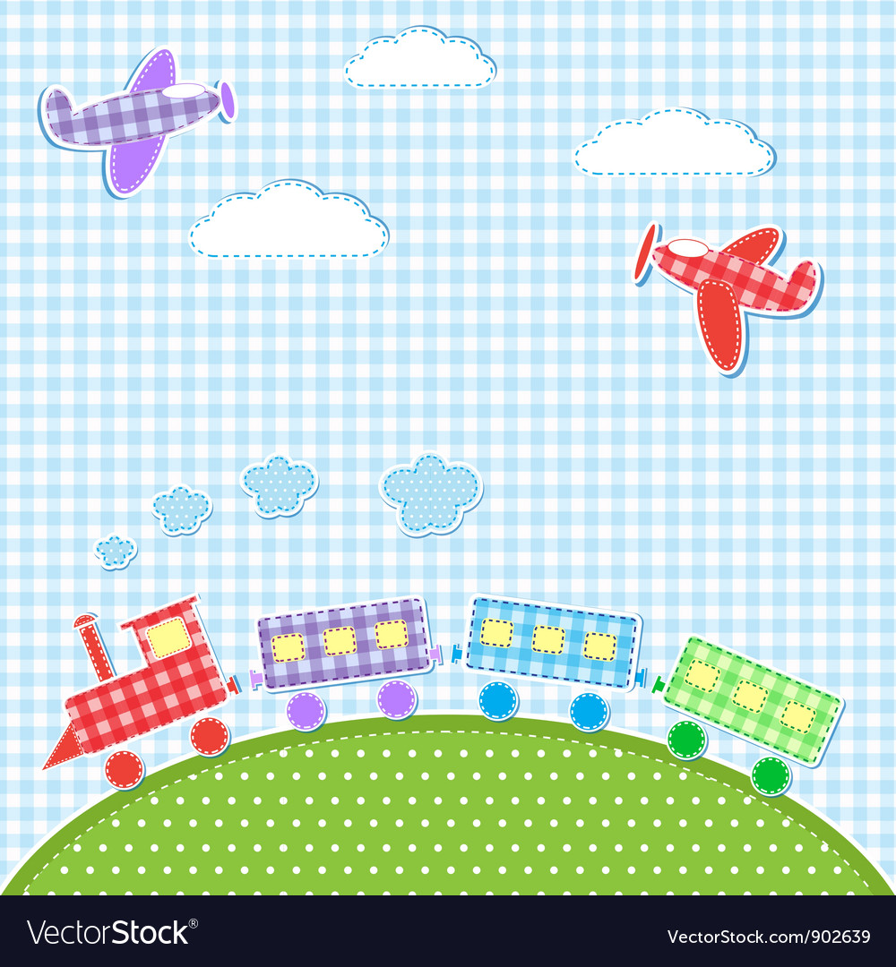 Aircrafts and train vector | Price: 1 Credit (USD $1)