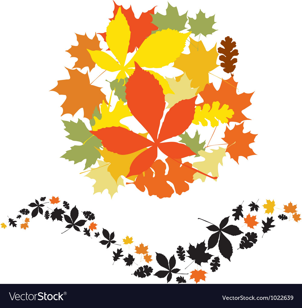Autumn decor elements vector | Price: 1 Credit (USD $1)