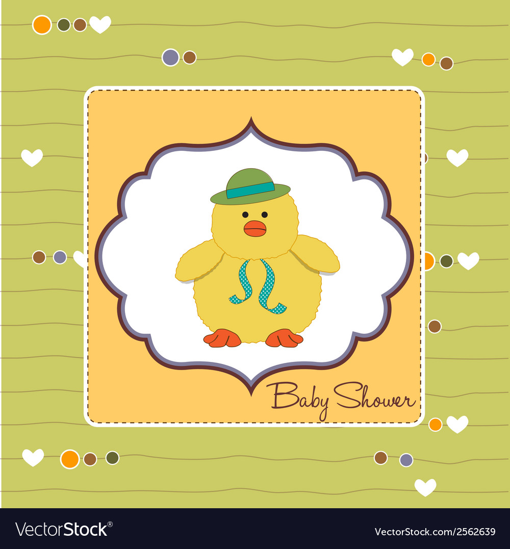 Baby announcement card vector | Price: 1 Credit (USD $1)