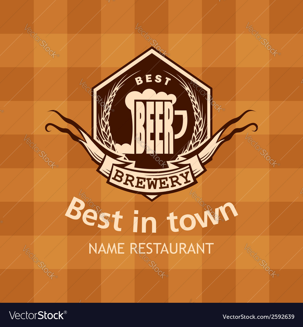 Banner with beer label vector   Price: 1 Credit (USD $1)
