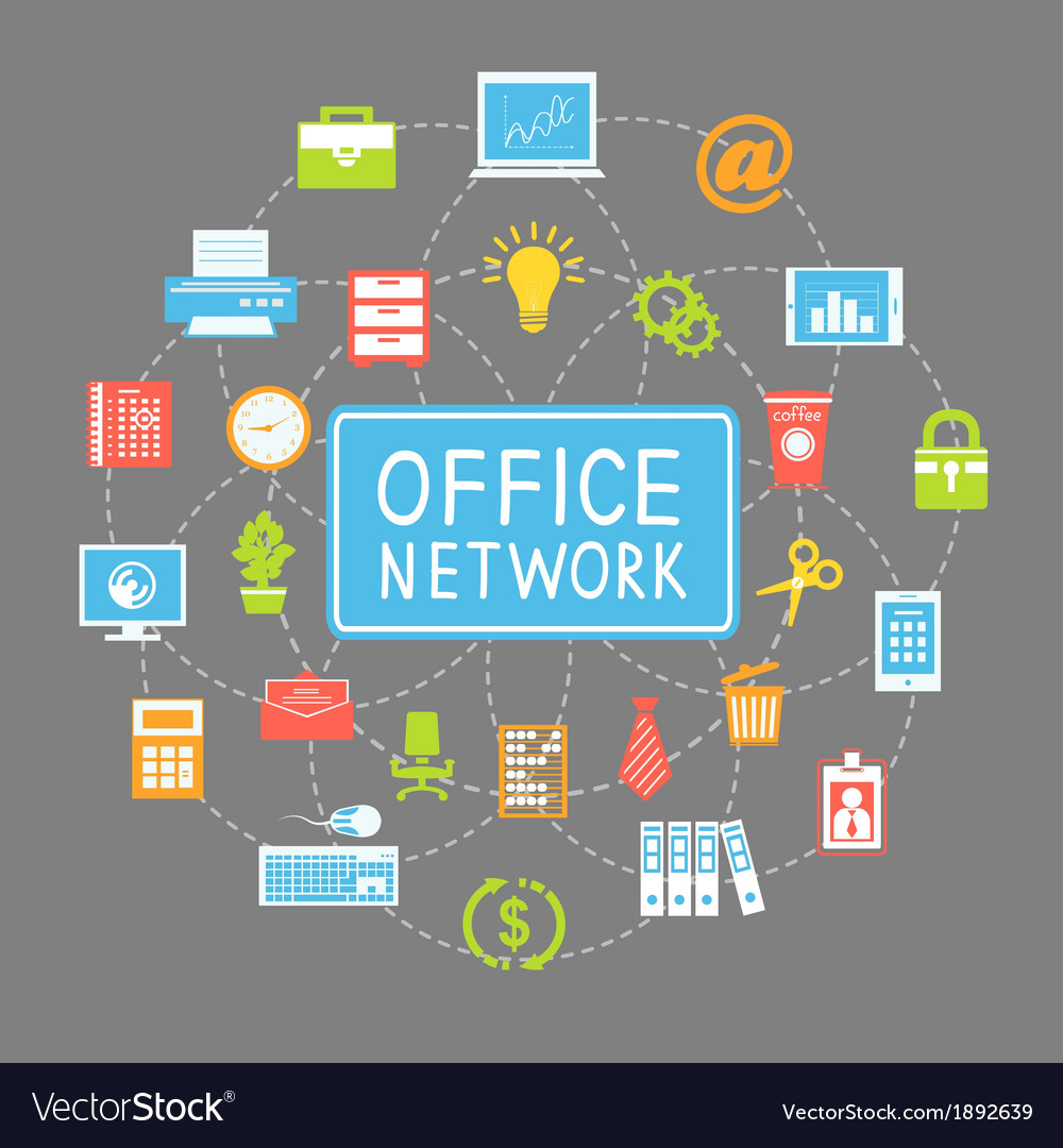 Business office networking and communication vector | Price: 1 Credit (USD $1)