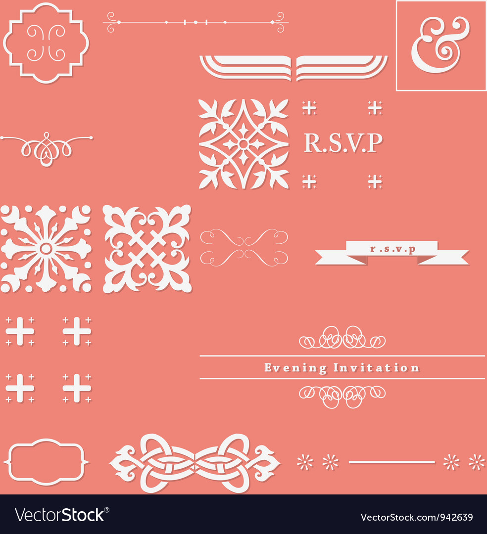 Calligraphy elements vector | Price: 1 Credit (USD $1)