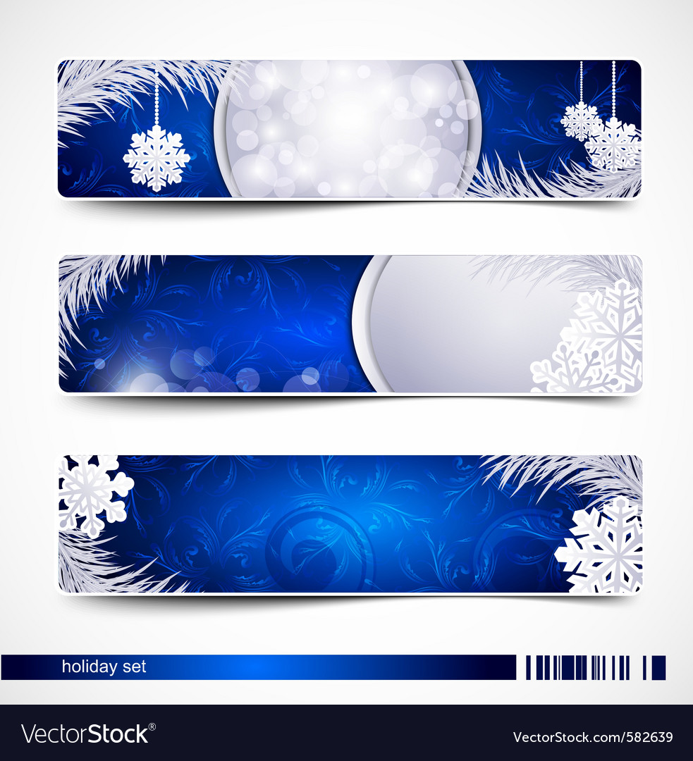 Christmas festive banners vector | Price: 1 Credit (USD $1)