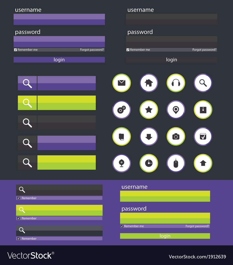 Flat web design elements vector | Price: 1 Credit (USD $1)