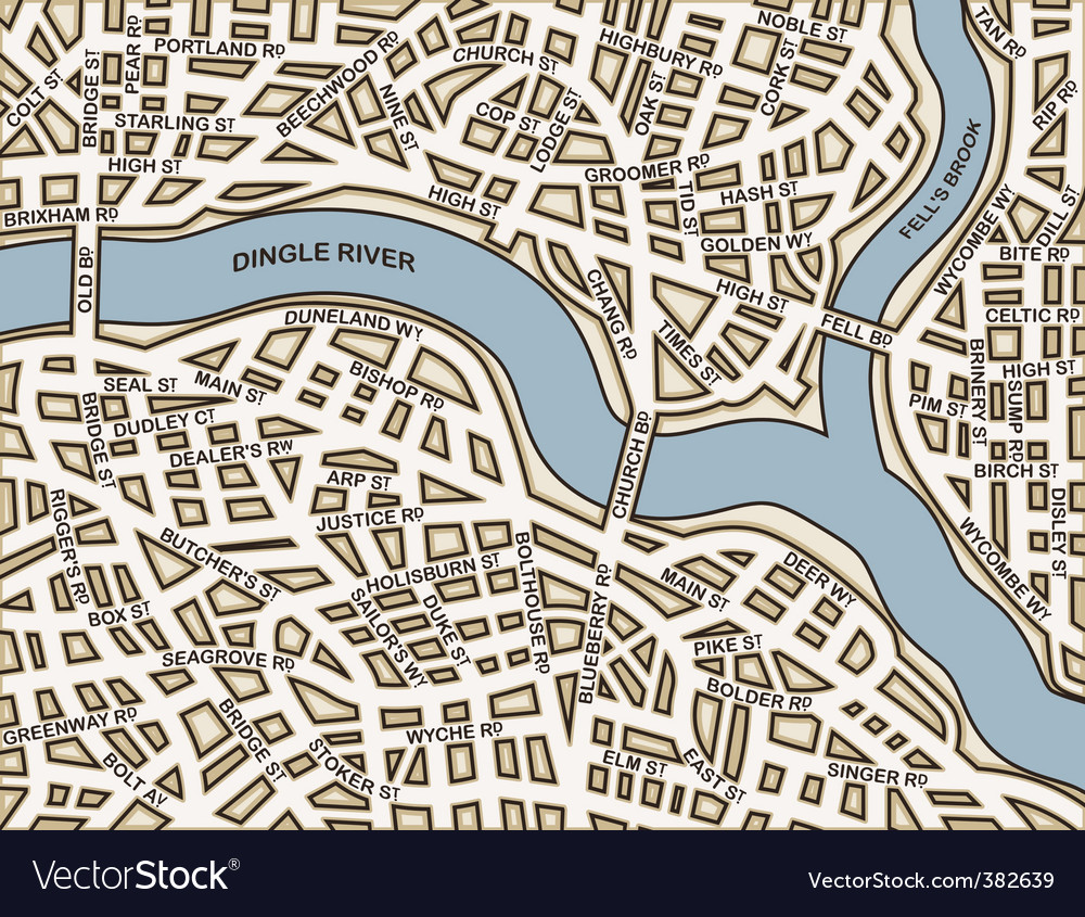 Generic streets vector | Price: 1 Credit (USD $1)