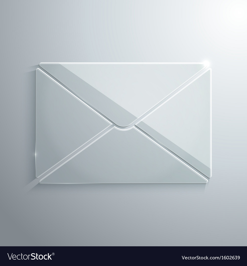 Glass icon of envelope vector | Price: 1 Credit (USD $1)