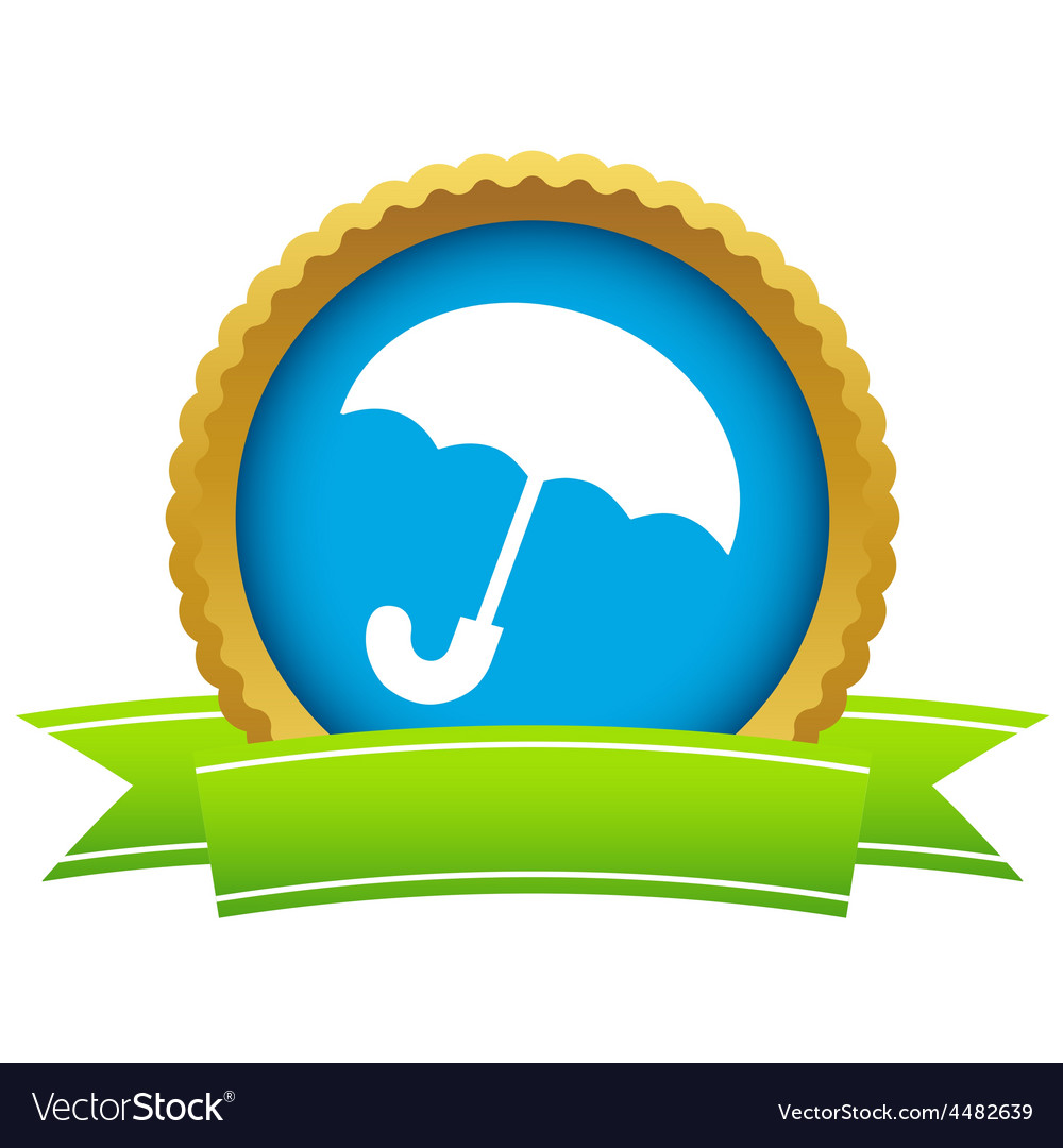 Gold umbrella logo vector | Price: 1 Credit (USD $1)