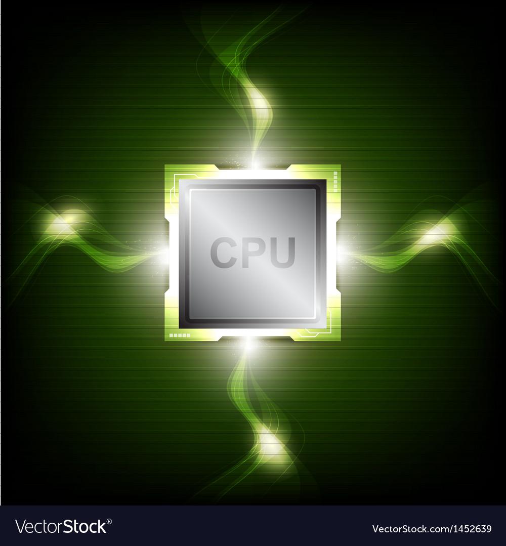 Green power processor vector | Price: 1 Credit (USD $1)
