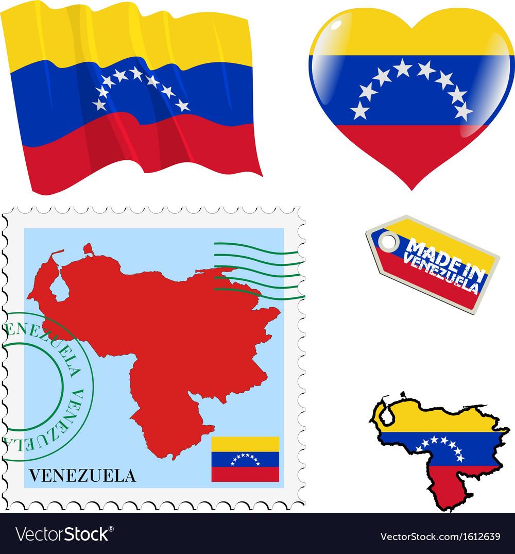 National colours of venezuela vector | Price: 1 Credit (USD $1)