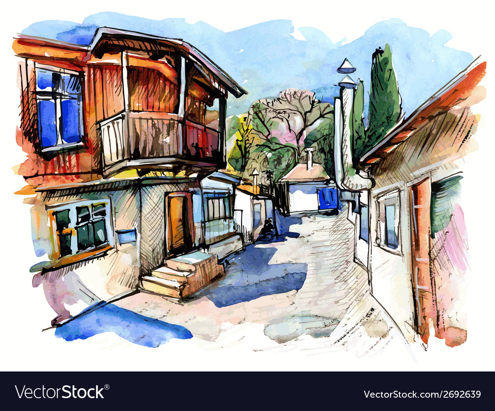 Original watercolor painting on paper vector   Price: 3 Credit (USD $3)