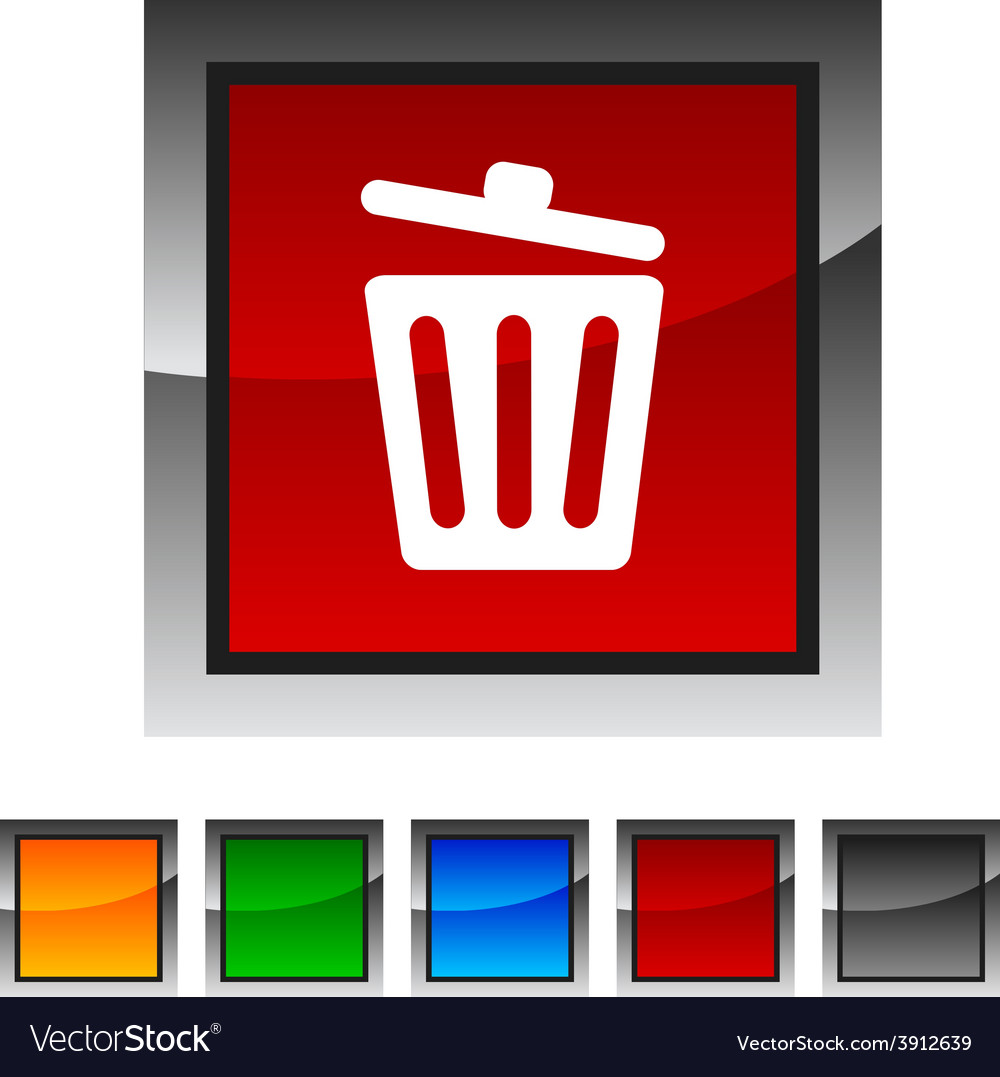 Recycle bin icons vector | Price: 1 Credit (USD $1)