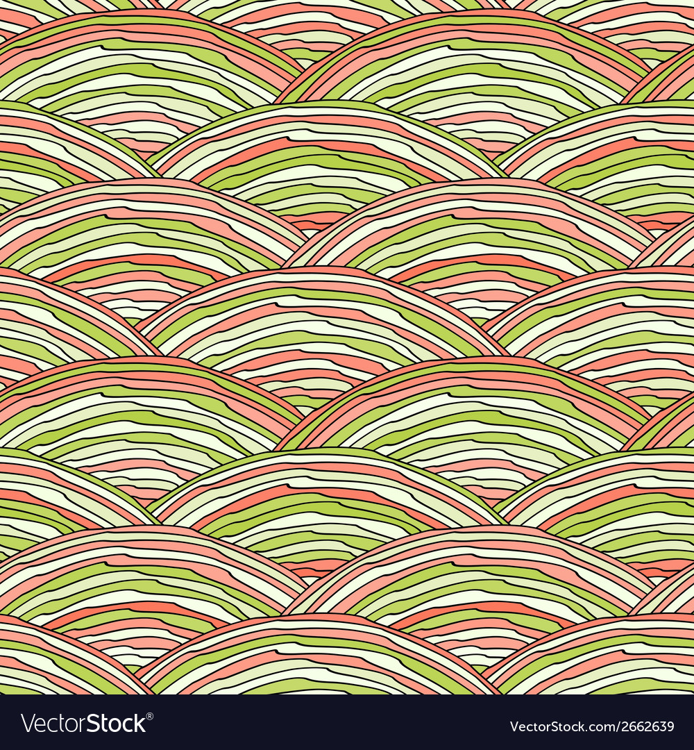 Seamless pattern with abstract doodle hand drawn vector | Price: 1 Credit (USD $1)