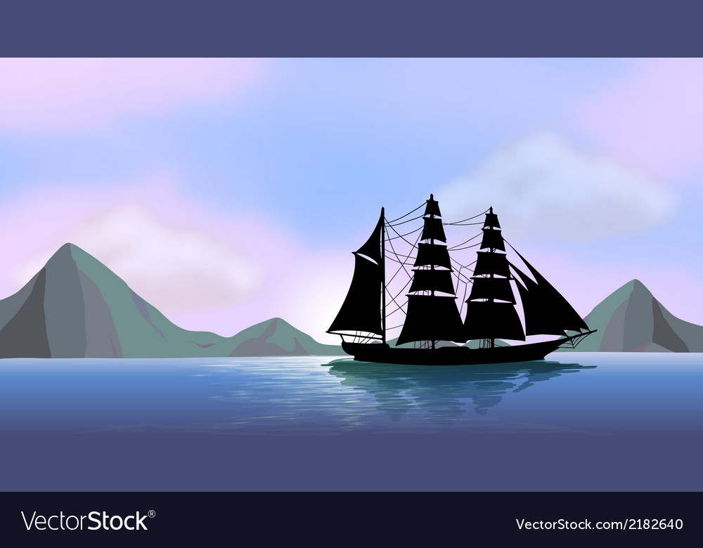 A ship sailing vector | Price: 3 Credit (USD $3)