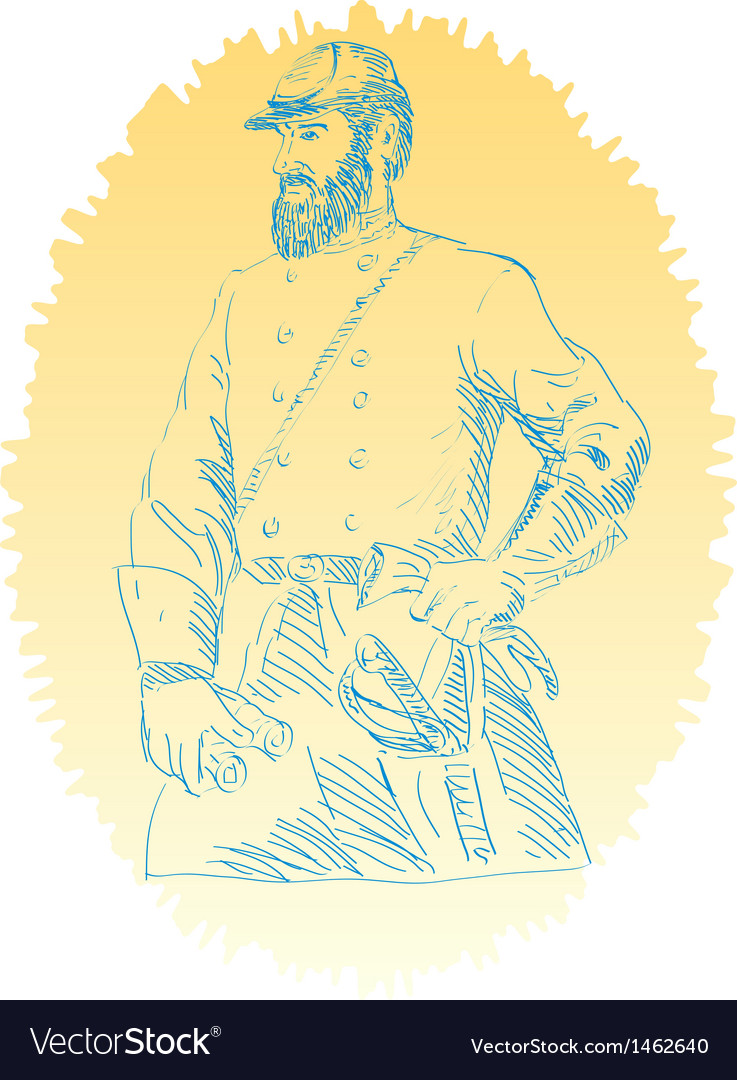 American civil war union officer vector | Price: 1 Credit (USD $1)