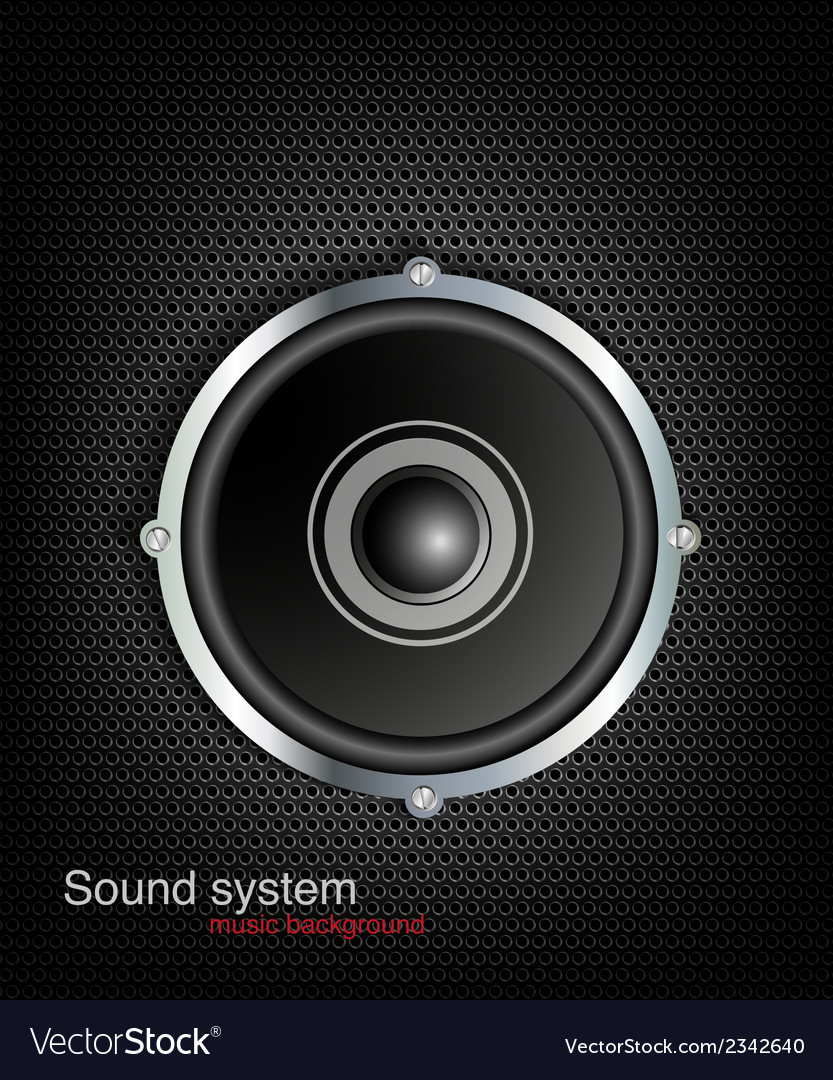 Background with speaker and music bar vector | Price: 1 Credit (USD $1)