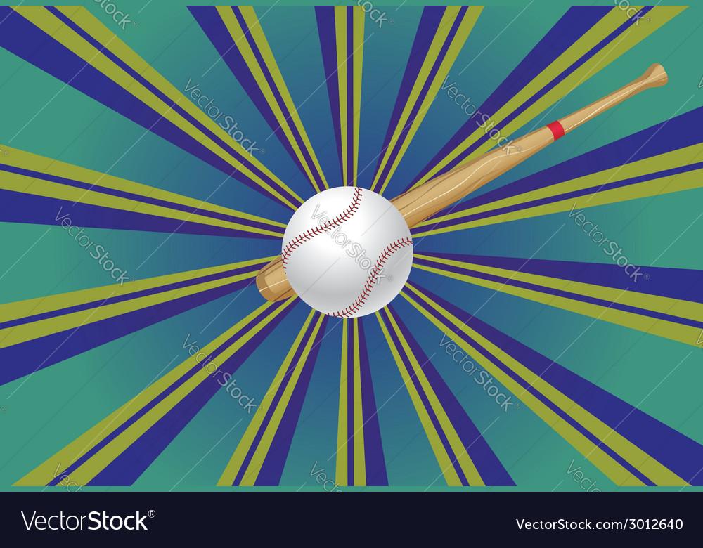 Baseball bat and ball3 vector   Price: 1 Credit (USD $1)
