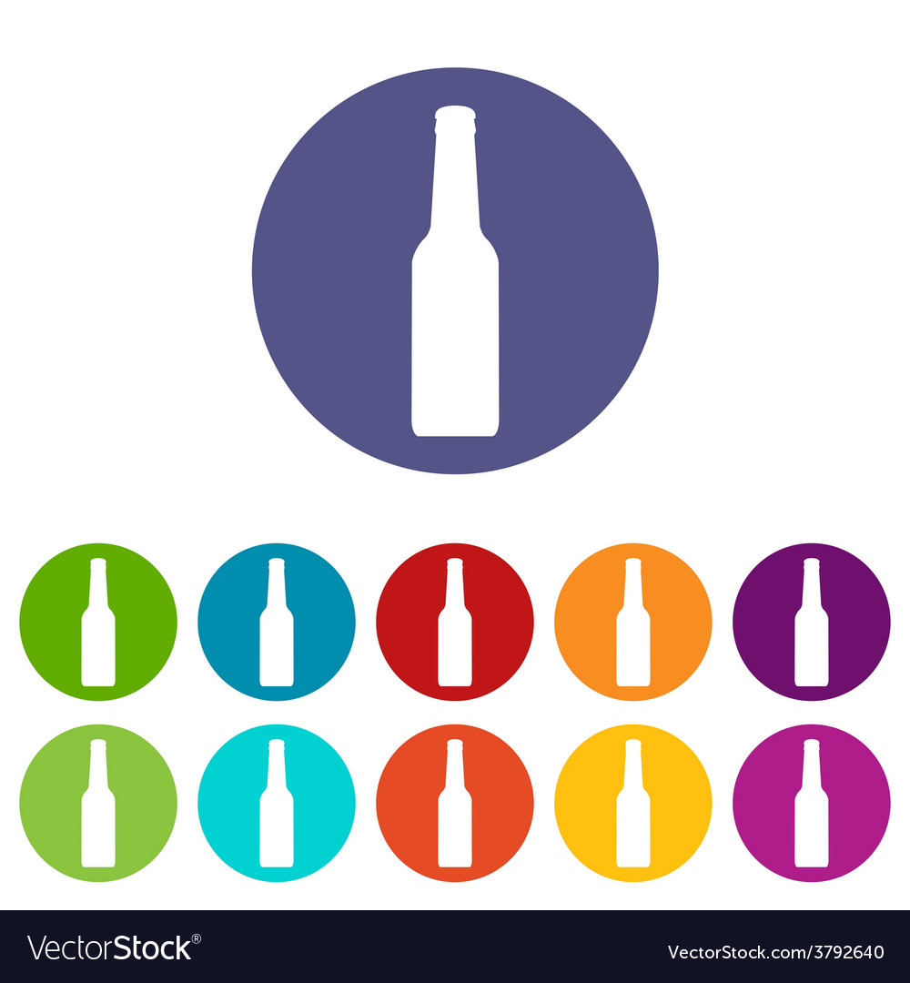 Bottle flat icon vector | Price: 1 Credit (USD $1)