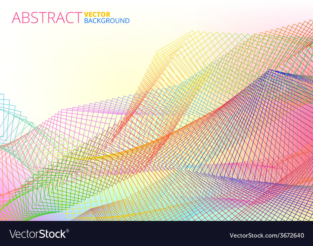 Colorful abstract lines vector | Price: 1 Credit (USD $1)