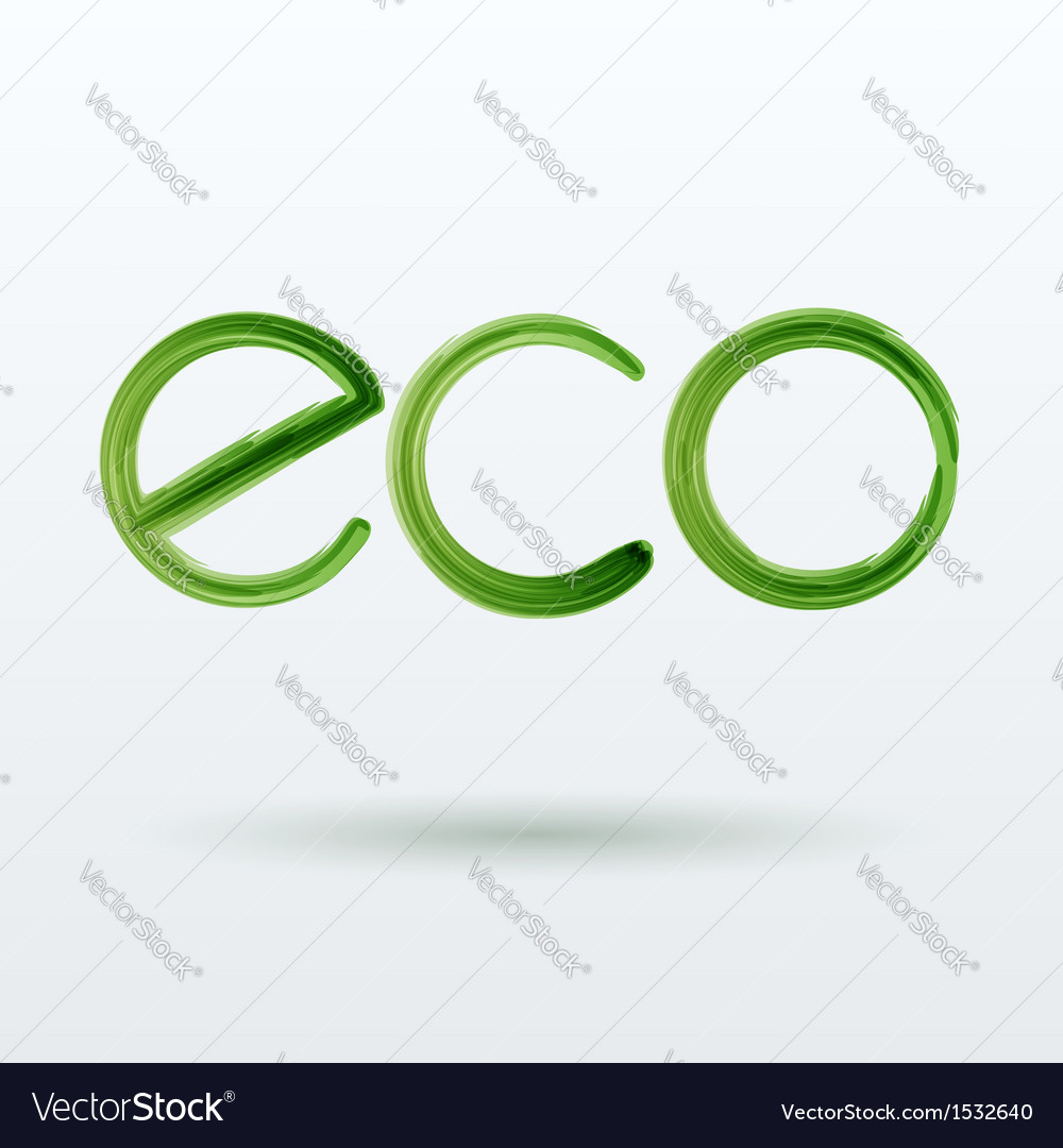 Eco label with shadow on white background vector | Price: 1 Credit (USD $1)