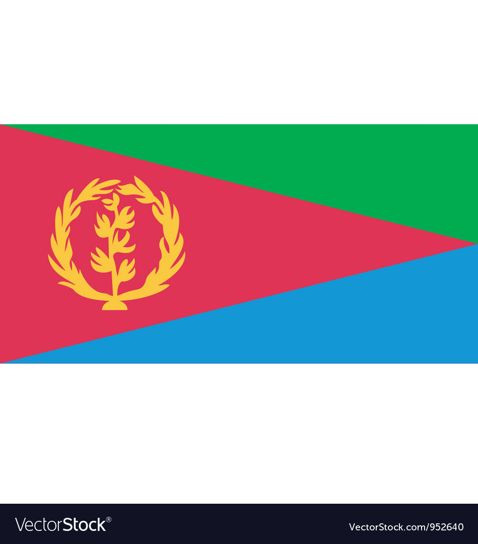 Eritrean flag vector | Price: 1 Credit (USD $1)