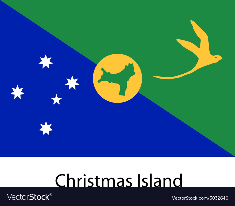 Flag of the country christmas island vector | Price: 1 Credit (USD $1)