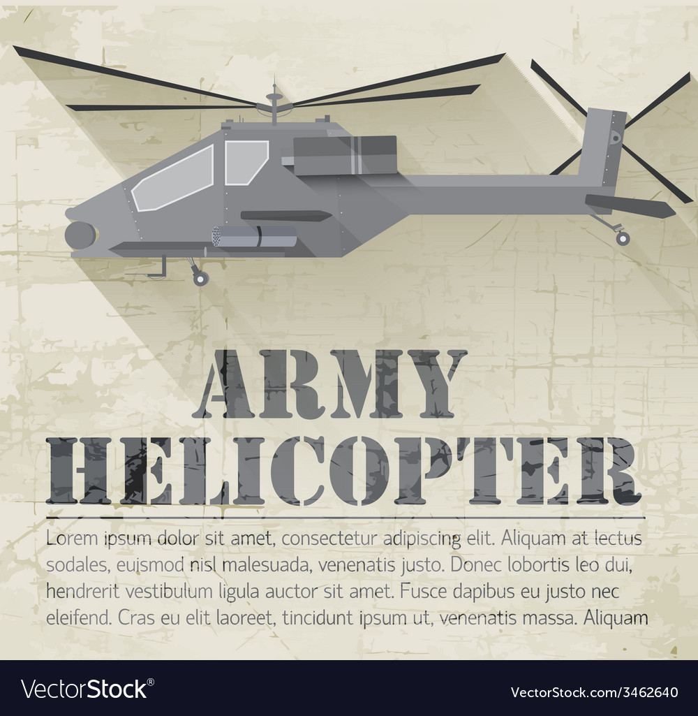 Grunge military helicopter icon background concept vector | Price: 1 Credit (USD $1)