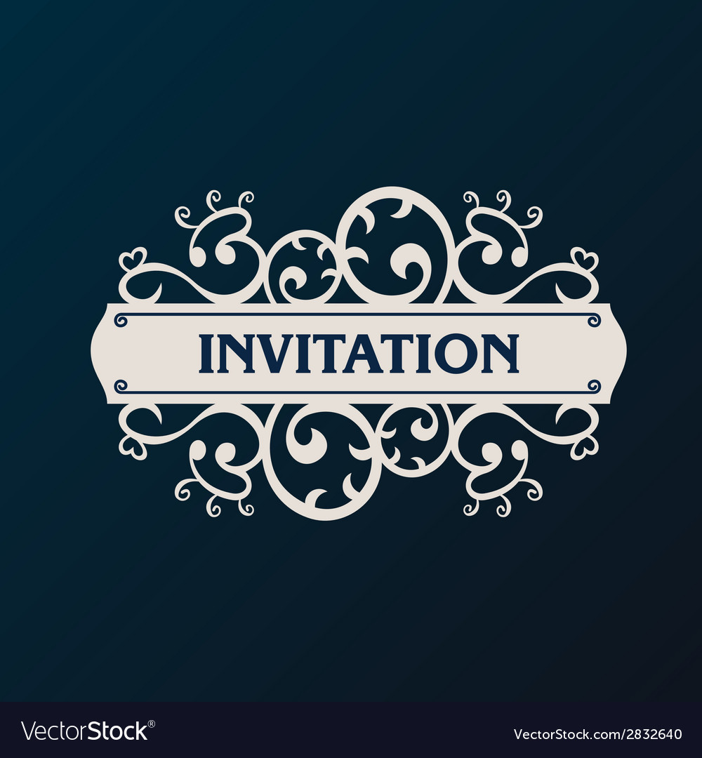Label frame vintage banner background vector | Price: 1 Credit (USD $1)